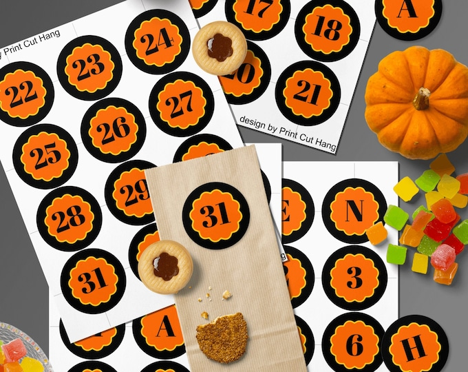 Countdown to Halloween Printable Editable Template