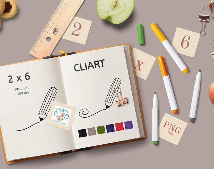 Hand-drawn Pencil Clipart Set Transparent PNG files