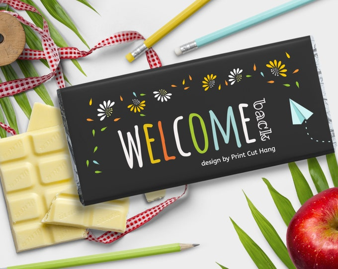 Welcome Back Printable Candy Bar Wrap Template Edit Yourself with Corjl