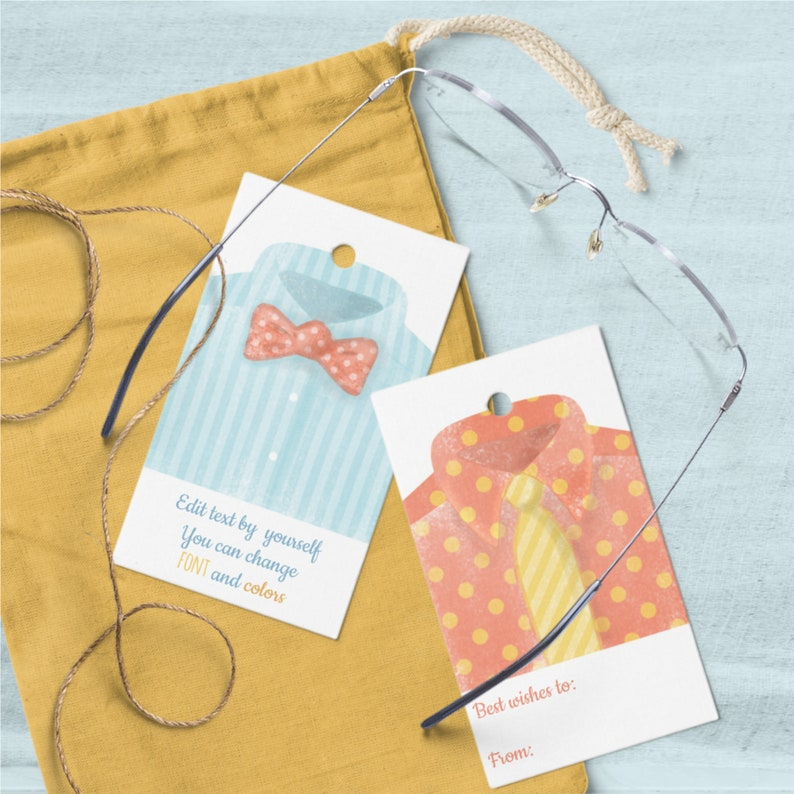 Printable Dad's Day Tags Editable Templates with image 0