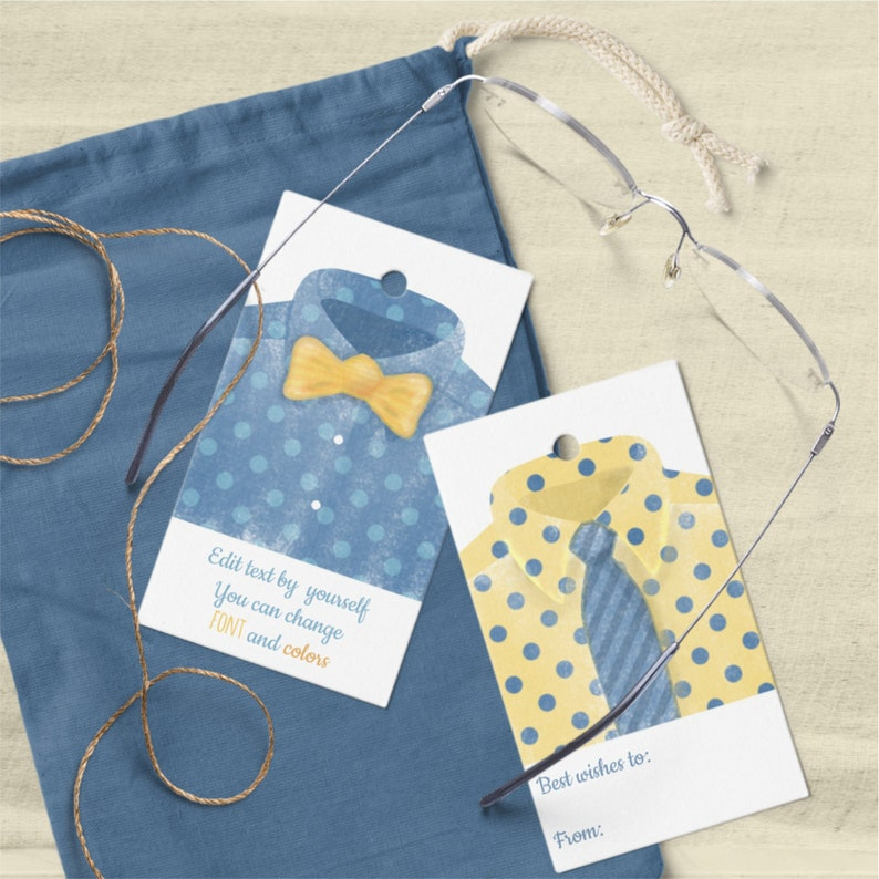 Father's Day Tags Templates Watercolor Men's Shirt image 0