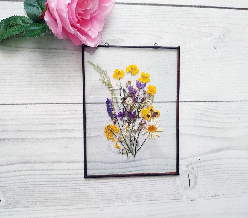 Decor herbarium frame flower art mom gift from daughter for image 0