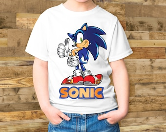 fa91726b Sonic T-shirt - Sonic Tee for Toddler and for Youth Tee Shirt Gift Idea For  Children - Birthday - School