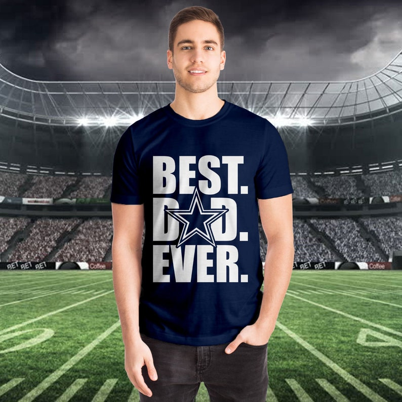 719d731de Dallas Cowboys -Best Dad Ever Tee, dad shirt, Mens cowboys shirt, cowboy  dad shirt, dallas cowboys, mens shirt, dad gift, fathers day gift