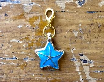 progress keeper Starfish gold enamel stitch marker
