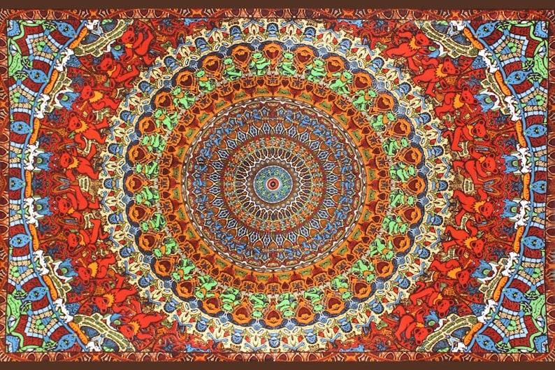 Grateful Dead Bear Vibrations Tapestry - Passport To Peru