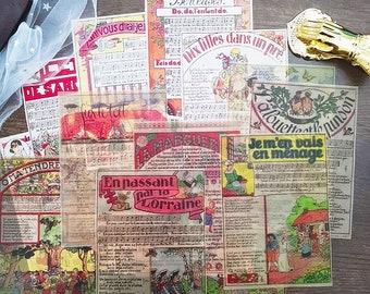 16Pcs Vintage Collage Paper,Old Book Page,Sheet Music,Craft Supplies,Planner Supplies,Ephemera Paper,Scrapbook,Junk Journal