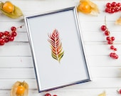watercolor feather art poster wall art home decor print