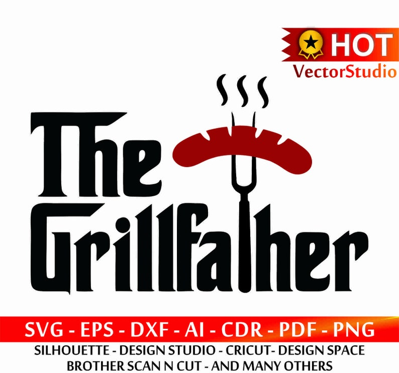 The Grillfather Father S Day Svg Grillfather Svg Bbq Etsy