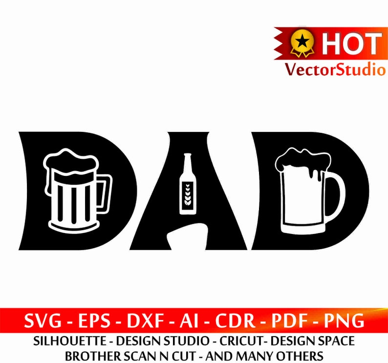Dad Svg Beer Svg File Fathers Day Svg File Dad Beer Svg Etsy