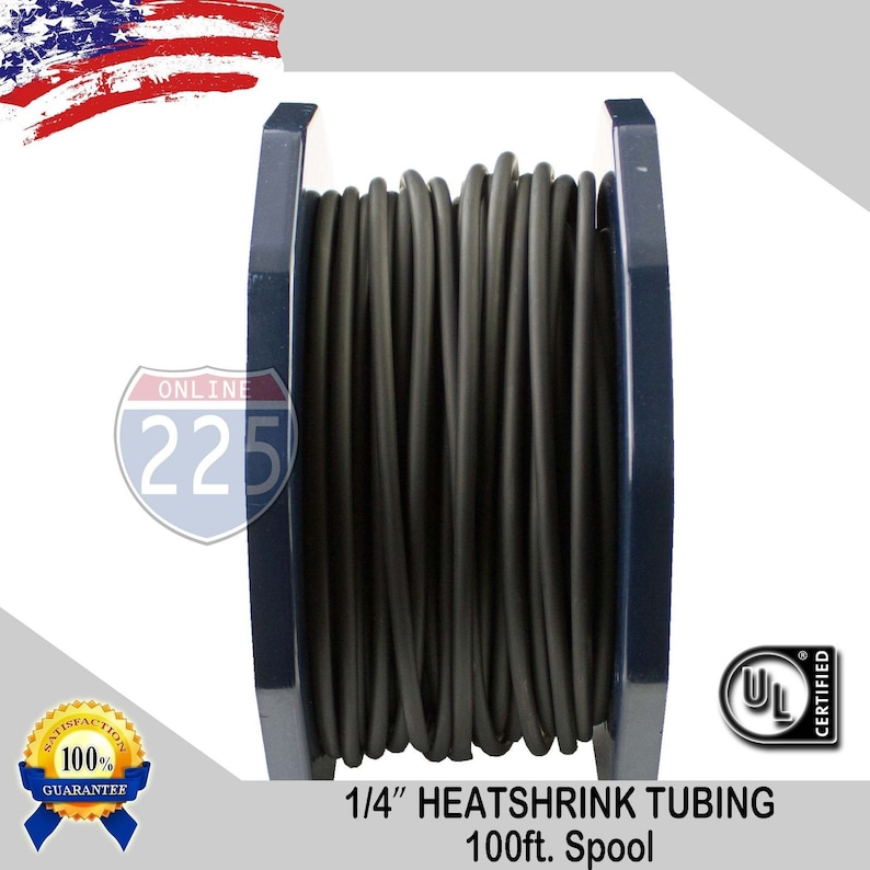 "100 FT 100 Feet BLACK 1//2/"" 13mm Polyolefin 2:1 Heat Shrink Tubing Tube Cable"