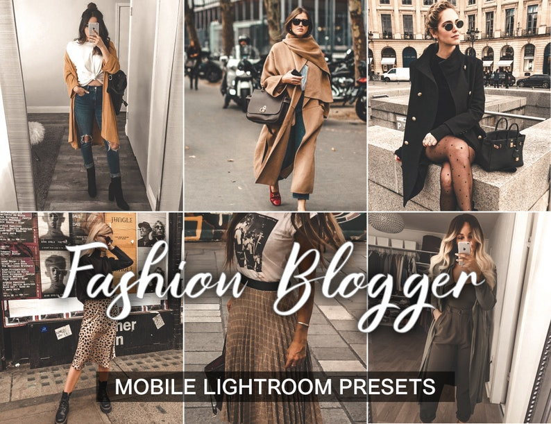 3 Lightroom Presets - Fashion Blogger - Instagram Preset and Blogger Preset  | Mobile Presets and Lifestyle Presets | creamy and grainy
