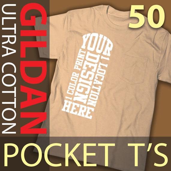 1 Color Print 2 Locations 12 Custom Screen Printed Gildan Heavy Cotton T-shirts