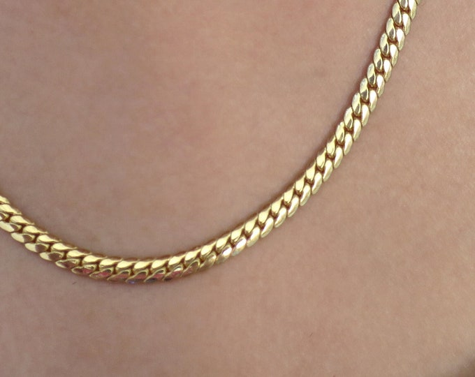 14K Gold Plated Miami Cuban Chain, Miami Cuban chain man, mens women Necklace, 20 inch