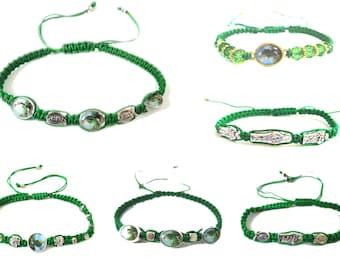 St Jude Cord Bracelet, Green Cord Saint Jude Medal, San Judas Tadeo, Catholic Bracelet