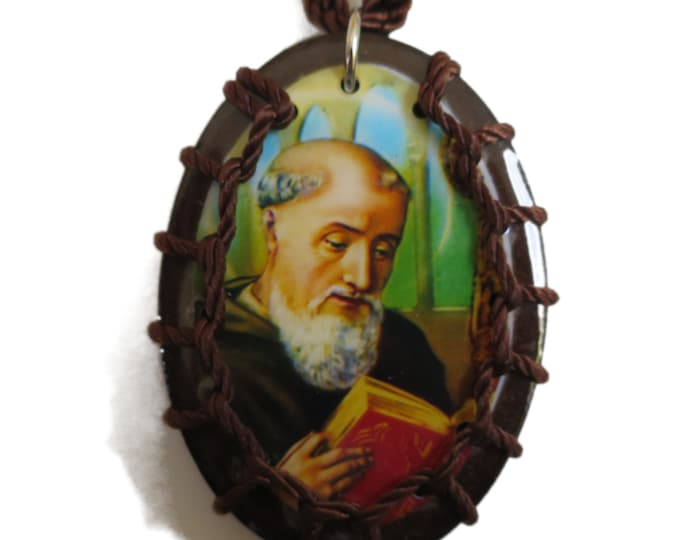 Wooden Scapular Necklace St. Benedict, St, Benedict Scapular, Saint Benedict, Religious Gift