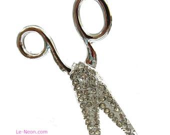 "Purse Charm "" Scissors ""  Keychain Crystal Rhinestone Sparkling Key Ring Gift for Hair Dressers"