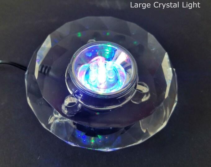 Crystal Light Stand, LED Light Display Base for Crystal Gemstones, Diamonds, Glass Art