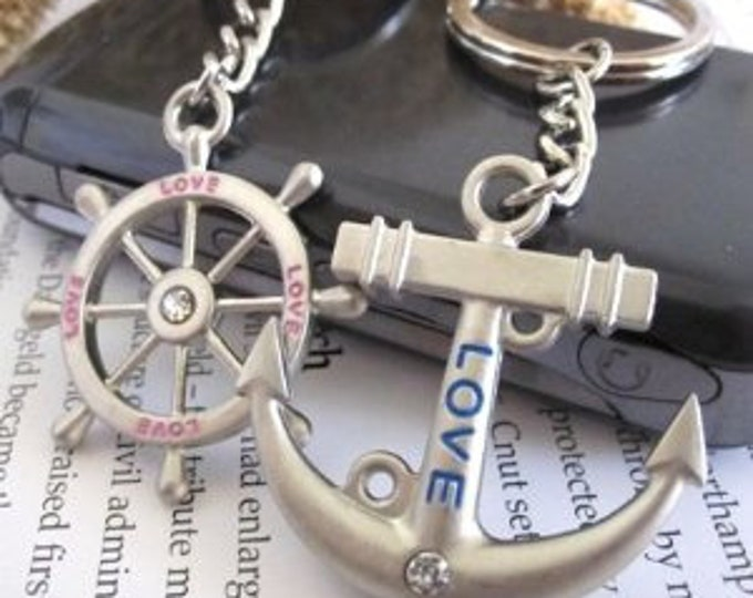 """Couple Love Keychain Keyring Set 