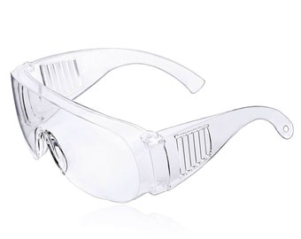 Safety Goggles Anti fog   Eye Protective   Over Glasses   Lab Work   Anti chemical splash Anti-shock   Clear