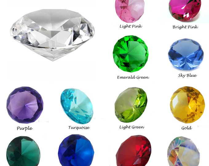 80mm (3 inch ) Crystal Diamonds   Paperweight   Art Jewels   Wedding Home Decor Centerpieces