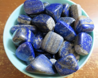 Large Lapis Lazuli Tumbled Stone, Choose number of stones, 'A' Grade Lapis Lazuli, The Noble Stone