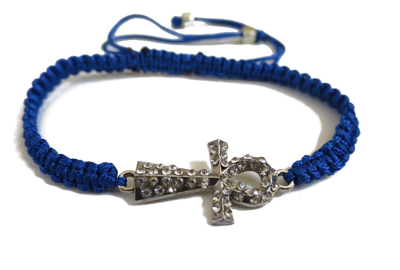 6 x Ankh Cross Bracelet Adjustable cord Bracelet Party favors bulk wholesale lot