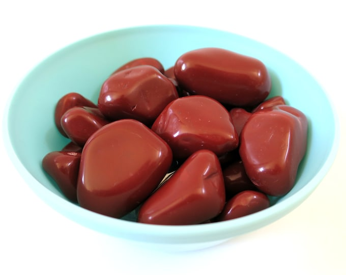 Large Red Jasper Tumbled Stone,  Choose number of stones, 'A' Grade Red Jasper, The Passion Stone