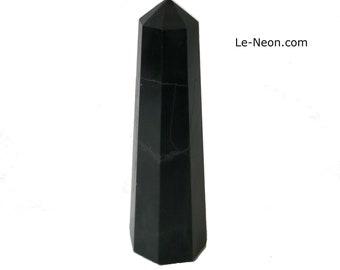 """1 Black Onyx Tower Wand Point, Black Onyx Polished, Grade """"A"""""""