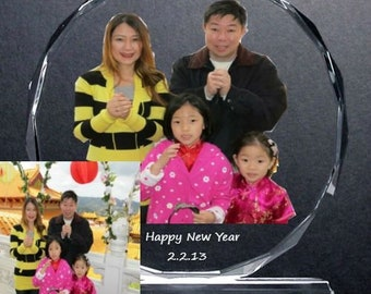 """5.75"""" x 5.75"""" Custom Picture Crystal 