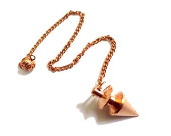 choose your color   Solid Brass Metal Point Dowsing Pendulum   7 Inch Long Chain   Spiritual Gift Reiki Healing