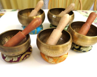 """1 (One) Hand Beaten Tibetan Singing Bowl from Nepal, Hammered, Choose from:  3"""" 3.5"""" 3.75"""" 4"""" 4.5"""""""
