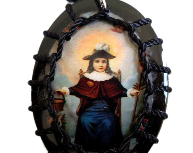 Wooden Scapular Necklace, The Holy Child of Atocha Scapular, Santo Niño de Atocha, Religious Gift