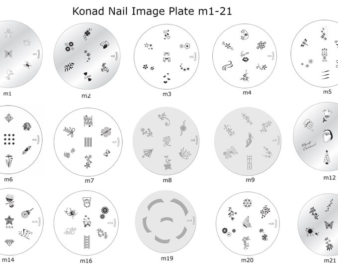 Choose Your Plate | Konad Nail Image Plate M1-M83, S2-S
