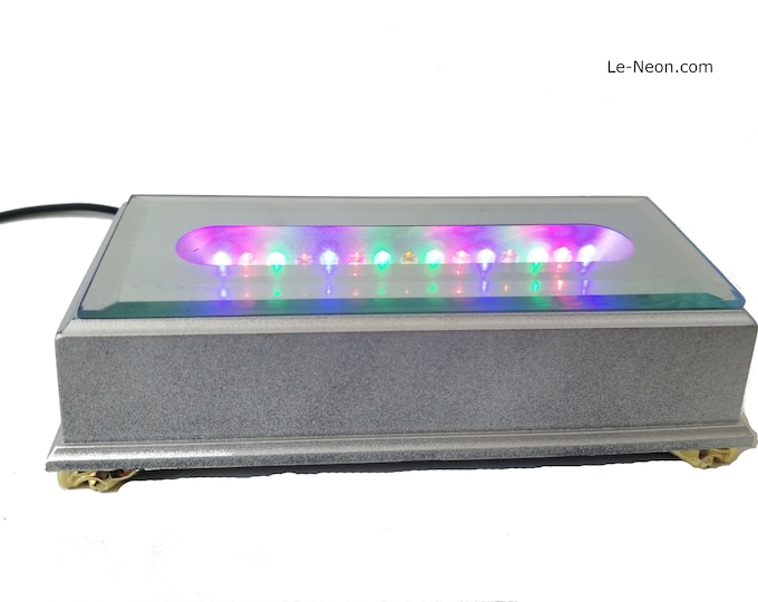 15 led Rectangle Light stand,  for large size gemstone pieces, sculptures, glass awards