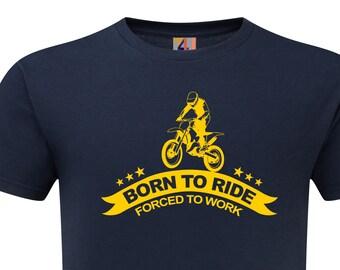 4126b3521a4ee Biker Motorrad Born To Ride Motocross Premium Qualität T-shirt hohe  Qualität Print kostenlose schnelle Lieferung. S-5XL
