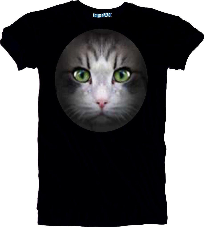 Nouveau visage plein chat Premium T-shirt. Superbe Superbe Superbe impression couleur de haute qualité. Tailles de S à 5XL livraison rapide gratuite. 8bce9c
