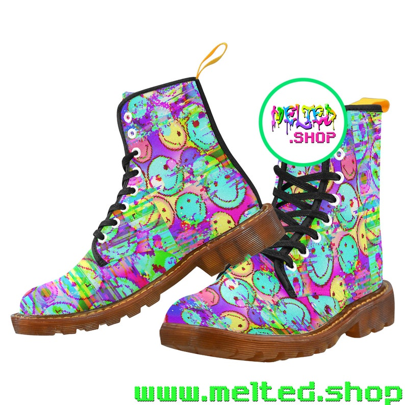 MELTED SMILIES Combat Boots Women