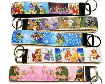 Purse or Wallet Strap Wristlet Disney Colorful faces of Mickey Mouse Key fob Strap or Key