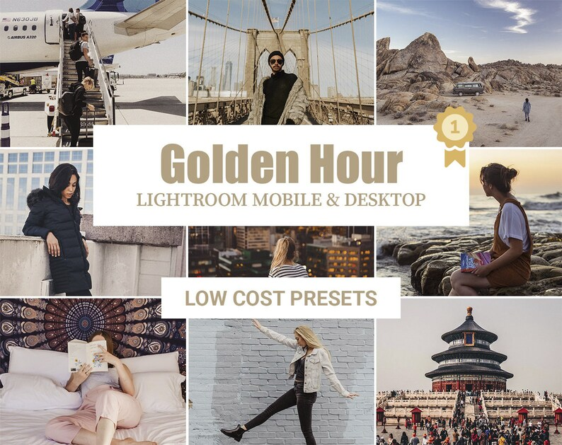 Mobile & Desktop Lightroom Preset • GOLDEN HOUR • Blogger Preset / Photo  Editing / Instagram Filter / Gold Warm Preset / Best Golden Preset
