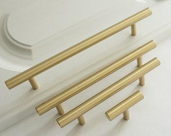 2.5/'/' 3.75/'/' 5/'/' 6.3/'/' 8.8 12.6Brass Cabinet Handles Knob T Bar Pulls Drawer Pulls Dresser Knobs Kitchen Pulls 64 96 128 160 192 320