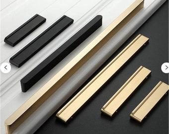 2.5/'/' 3.75 5 6.3 Square Dresser Knobs Handles White Drawer Pull Handles Kitchen Cabinet Door Knob Handle Modern Cupboard Pulls Handles