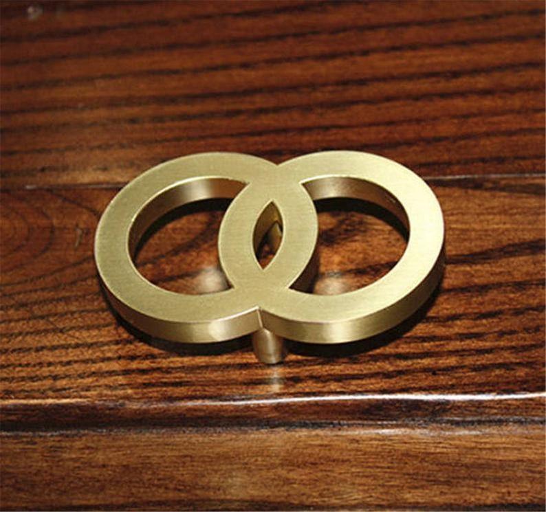 1.1/'/' Brushed Brass Gold Drawer Pulls Dresser Knobs  Kitchen Cabinet Pulls Handle Door Knob Ring Drop Pulls Decor Furniture Hardware
