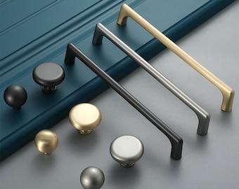 """3.78"""" 5"""" 6.3"""" 7.55"""" Gold Brass Drawer Handles Cabinet Pulls black Dresser Pulls Nickel Kitchen Cupboard Handle Furniture Hardware192 320mm"""
