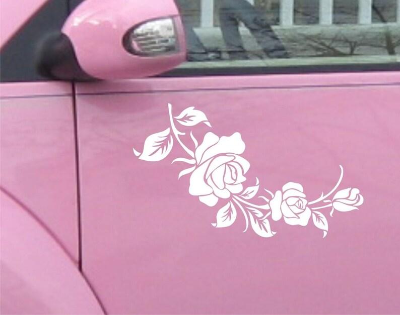 2x Large Rose Roses Floral Flower Car Sticker Van Stickers Decal sticker Vinyl # C03