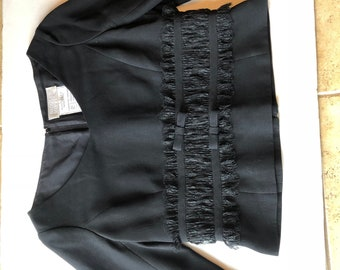 70f95aa56 Badgley Mischka Evening Black Career Blouse Size 10 Gently Used Perfect  Condition