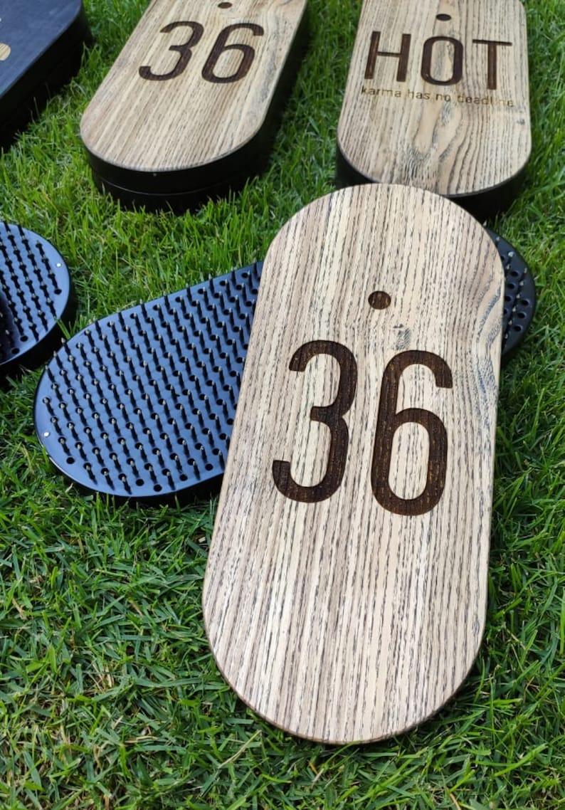 Deep black Sadhu board with custom design