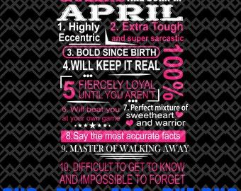 April Birthday Svg