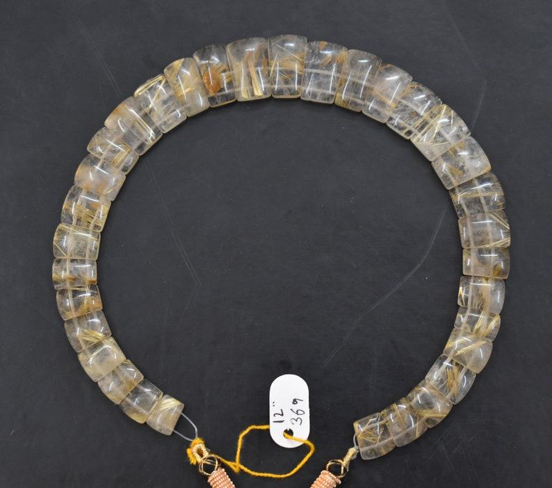Natural Golden Gemstone,Handmade Golden Rutile Necklace,Bead Golden Rutile Necklace,Faceted Golden Rutile Necklace,Plain Golden Rutile Line.