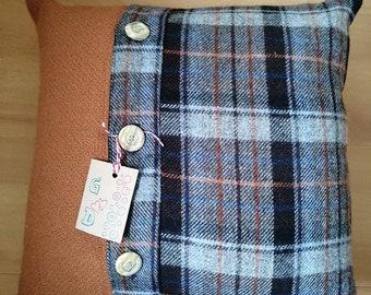 Scottish Borders Tweed Tartan Scatter Cushion Cover